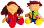 SMALL FOOT Pluszowe Lalki Nicoletta i David