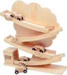 SMALL FOOR Drewniana Zjeżdżalnia Samochodowa
