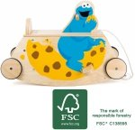 SMALL FOOT SESAME STREET Cookie Swinging See-Saw with Wheels - bujak z kółkami