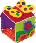 SMALL FOOT Pluszowa Kostka Edukacyjna - kostka sensoryczna
