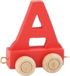 Dekoracja SMALL FOOT wagon do lokomotywy z literą A (kolor czerwony)