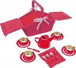 SMALL FOOT Różowy Mini Koszyk Piknikowy - zabawka dla dziecka