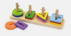 Viga 50968 Klocki z sorterem kształtów - puzzle