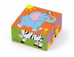 Viga 50836 Kostki puzzle - zoo