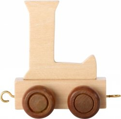 Dekoracja SMALL FOOT wagon do lokomotywy z literą L