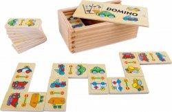 SMALL FOOT gra Domino drewniane (obrazki pojazdy)