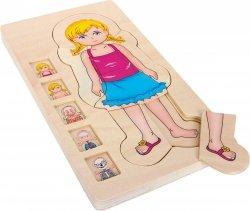 SMALL FOOT Puzzle Drewniane - Anatomia Ciała (dziewczynka)