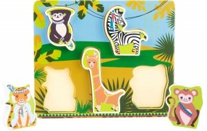 SMALL FOOT Puzzle Jungle - drewniane puzzle (dżungla)