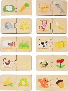 SMALL FOOT Feeding Animals Wooden Puzzle Learning Game - puzzle drewniane Nakarm Zwierzątko