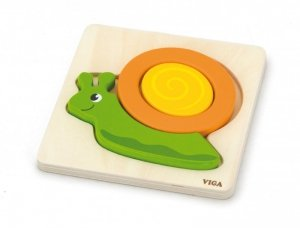 Viga 59931 Pierwsze puzzle maluszka - ślimak (box)