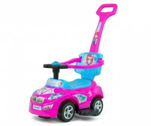 Milly Mally Jeździk 3w1 Pojazd Happy Pink-Blue