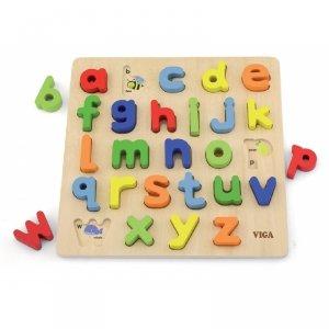 Puzzle Edukacyjne Drewniana Układanka Alfabet Literki Viga Toys
