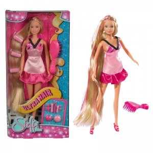 Simba Lalka Steffi Love Długowłosa w Jasno różowej sukience