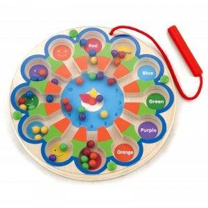 Drewniana Gra magnetyczna Zegar Viga Toys