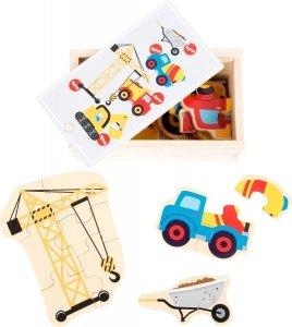SMALL FOOT Construction World Puzzle Box - puzzle drewniane Na Budowie