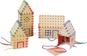 SMALL FOOT Budowanie domków - Układanka