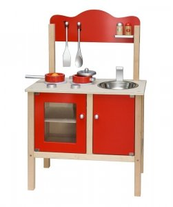 Viga 50384 Kuchnia z akcesoriami czerwona
