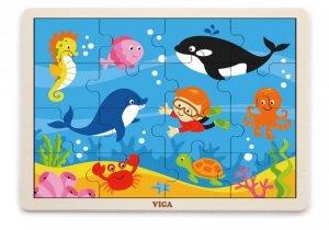 Viga 51451 Puzzle na podkładce 16 elementów - ocean