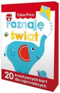 KS26 Fisher Price Poznaję świat. 20 kreatywnych kart dla najmłodszych