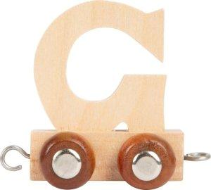 Dekoracja SMALL FOOT wagon do lokomotywy z literą G