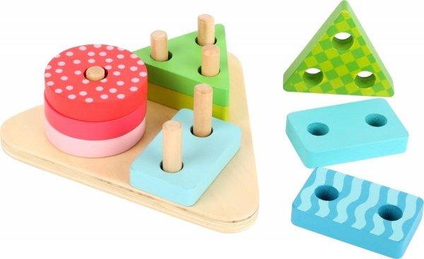 SMALL FOOT Geometric Shapes Puzzle Game - drewniany sorter kształtów