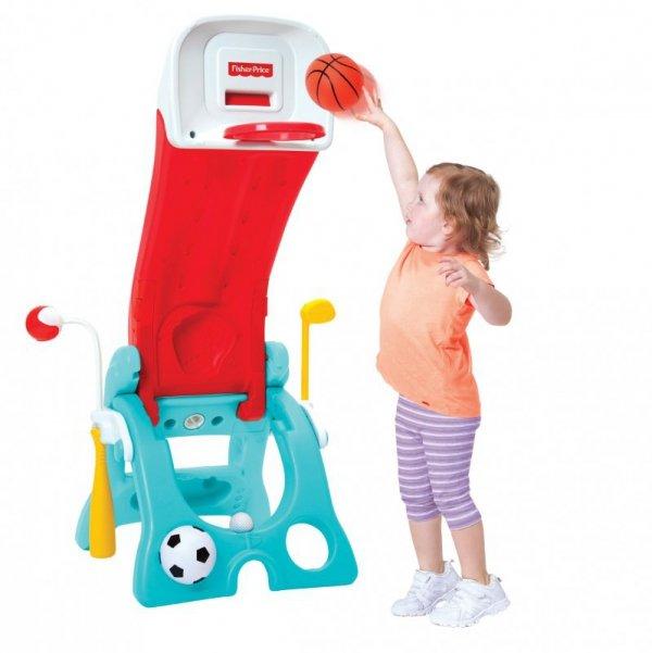 Fisher Price 6w1 Plac Zabaw Koszykówka Zjeżdżalnia