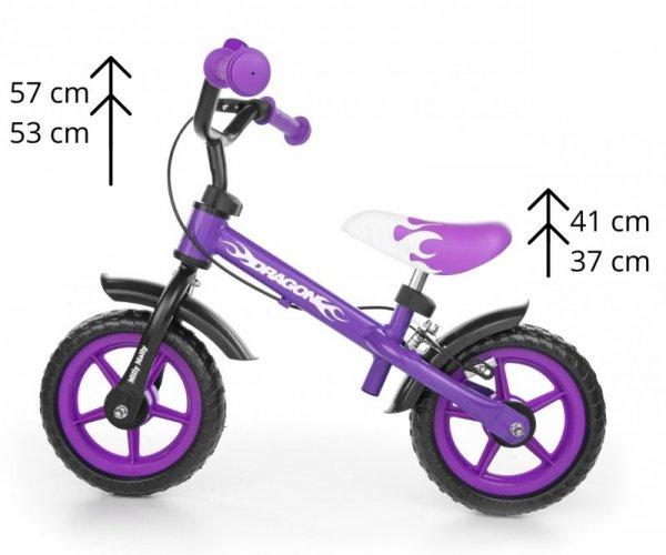 Milly Mally Rowerek biegowy Dragon z hamulcem violet (0161)