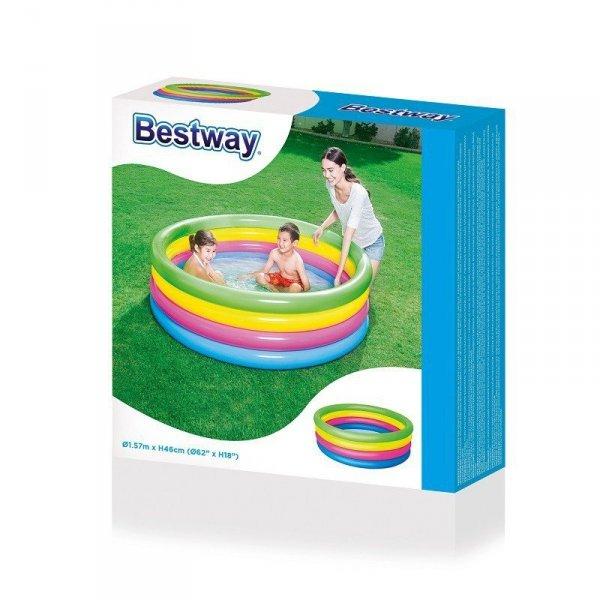 Bestway 51117 BASEN DMUCHANY CZTERY KOLORY 157x46 (0664, Bestway)