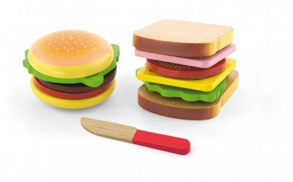 Viga 50810 Zestaw do krojenia – hamburger i kanapka
