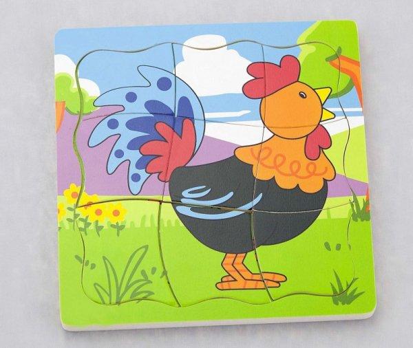 Viga 50113 Puzzle - jak rośnie kogucik