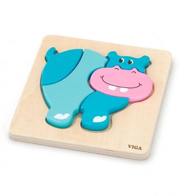 Viga 59932 Pierwsze puzzle maluszka - hipopotam (box)