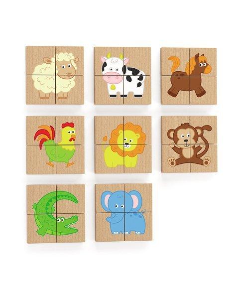 Viga 50722 Zestaw puzzli magnetycznych-farma