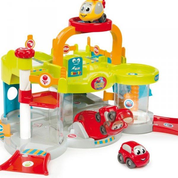 SMOBY Vroom Planet Mój Pierwszy Garaż autko helikopter