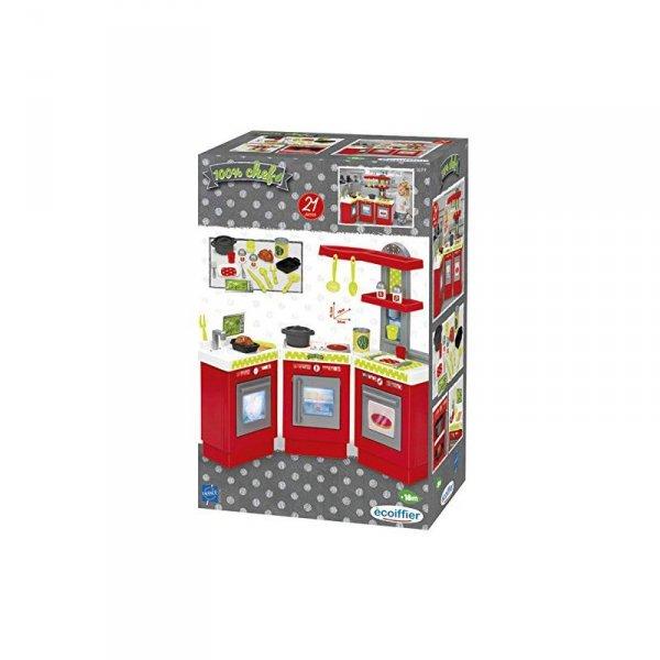 Ecoiffier Kuchnia Trójmodułowa 21 elementów