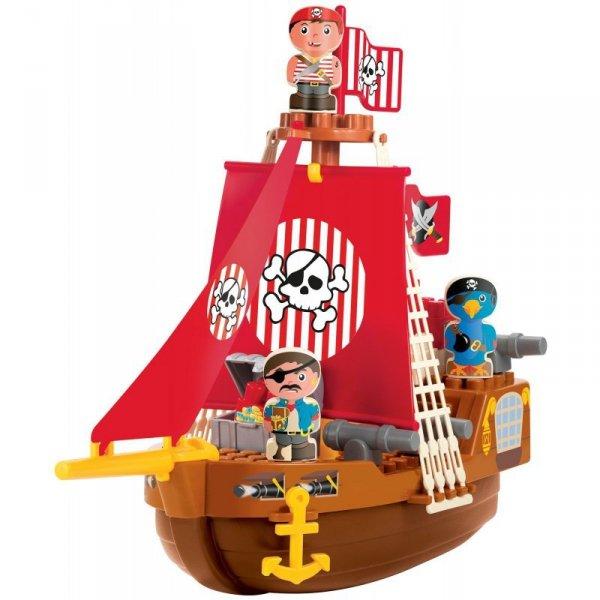 Ecoiffier Abrick Klocki Zestaw Statek Piracki z figurkami piratów 23 el.
