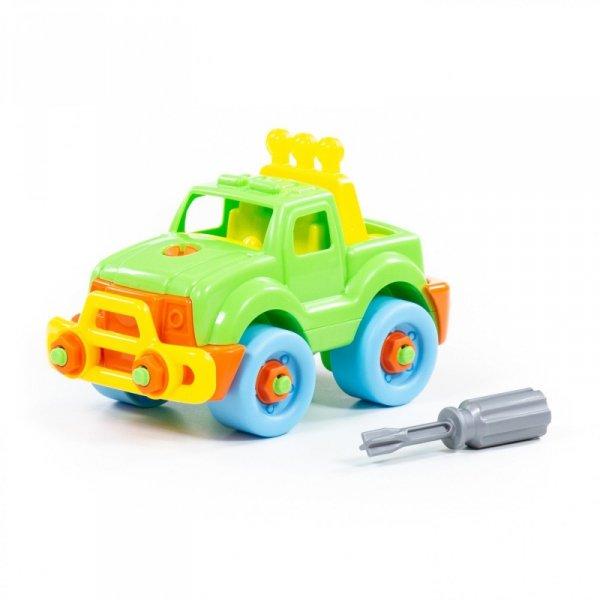 Kolorowy samochód ze śrubokretem Wader