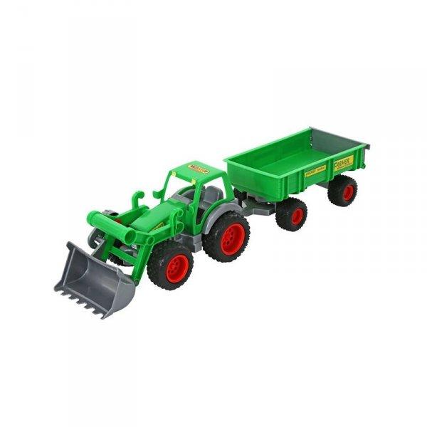 Traktor Gigant z Przyczepą Turem Gumowe Koła Wader QT