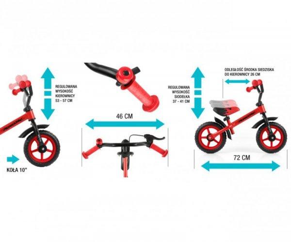 Rowerek biegowy Dragon z hamulcem red