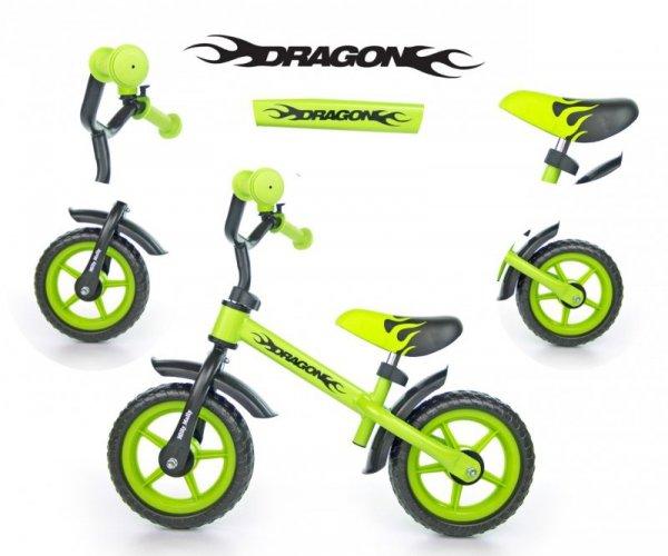 Rowerek Biegowy Dragon green