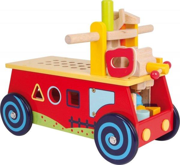 "SMALL FOOT Motor Activity Cart ""Workbench"" - jeździk motoryczny z sorterem kształtów"