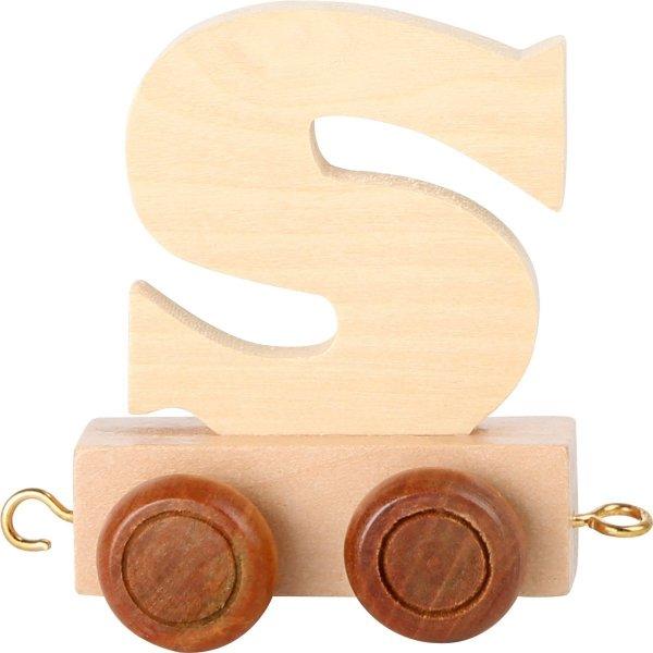 Dekoracja SMALL FOOT wagon do lokomotywy z literą S