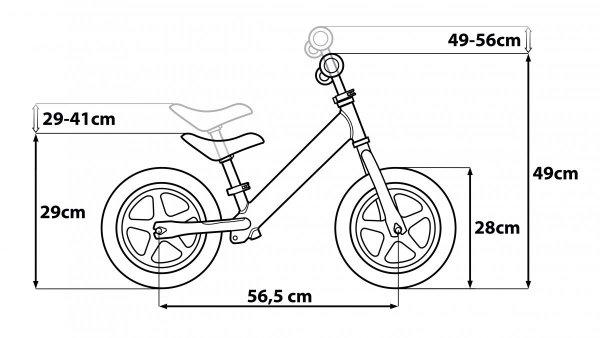 SEVEN Rowerek Biegowy Metalowy Minnie