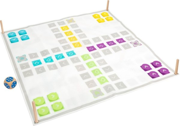 "SMALL FOOT Ludo and Ladders Game ""Active"" - gra planszowa dla dzieci"