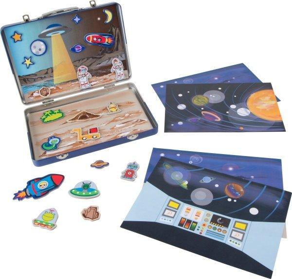 SMALL FOOT Magnetyczna Walizka Kosmos - zabawka dla dziecka