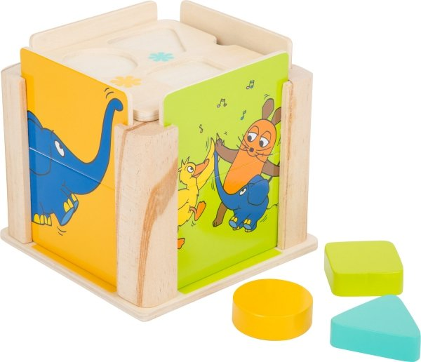 SMALL FOOT Shape Fitting Cube with the elephant - sorter kształtów