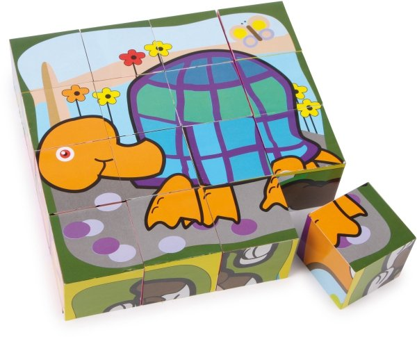 SMALL FOOT Puzzle Kostka - Kotek