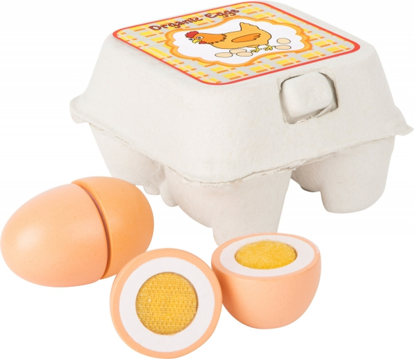 SMALL FOOT Drewniane Jajka - zabawka dla dzieci