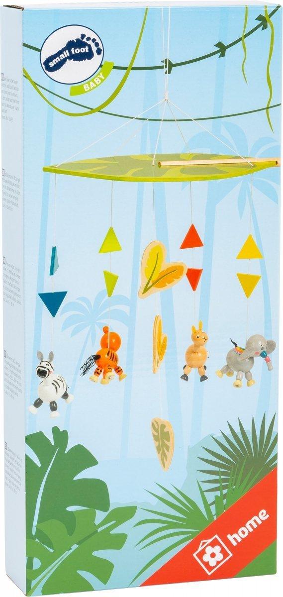 """SMALL FOOT """"Jungle"""" Mobile - karuzela z kolorowymi zwierzątkami dżungli"""