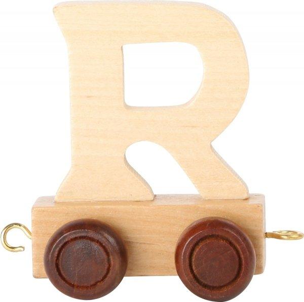Dekoracja SMALL FOOT wagon do lokomotywy z literą R