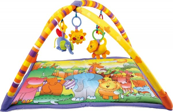 "SMALL FOOT Baby Blanket ""Jungle"" - mata edukacyjna dla niemowląt"